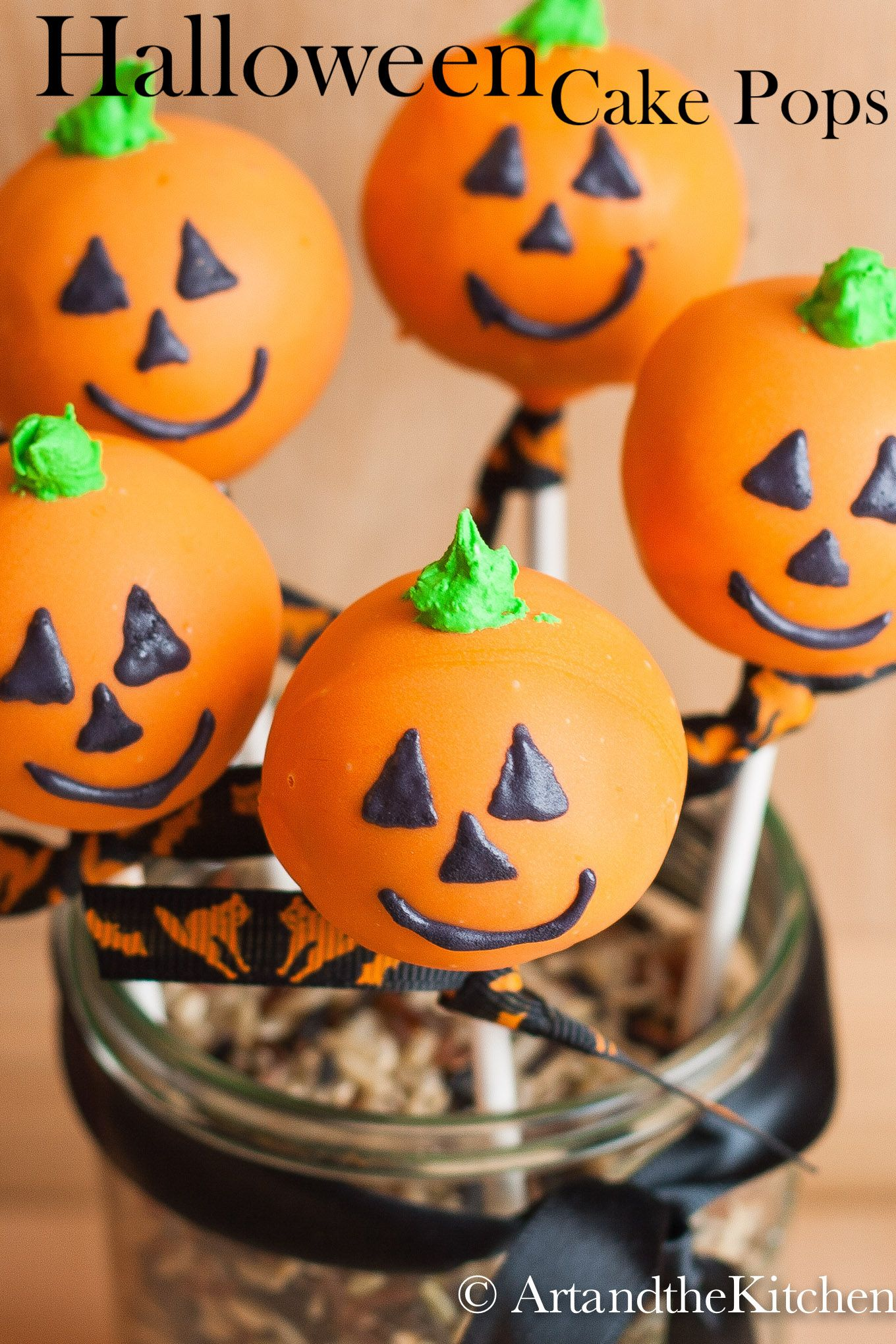 Delicious Halloween Cake Pops Decorated Like A Jack O Lanterns