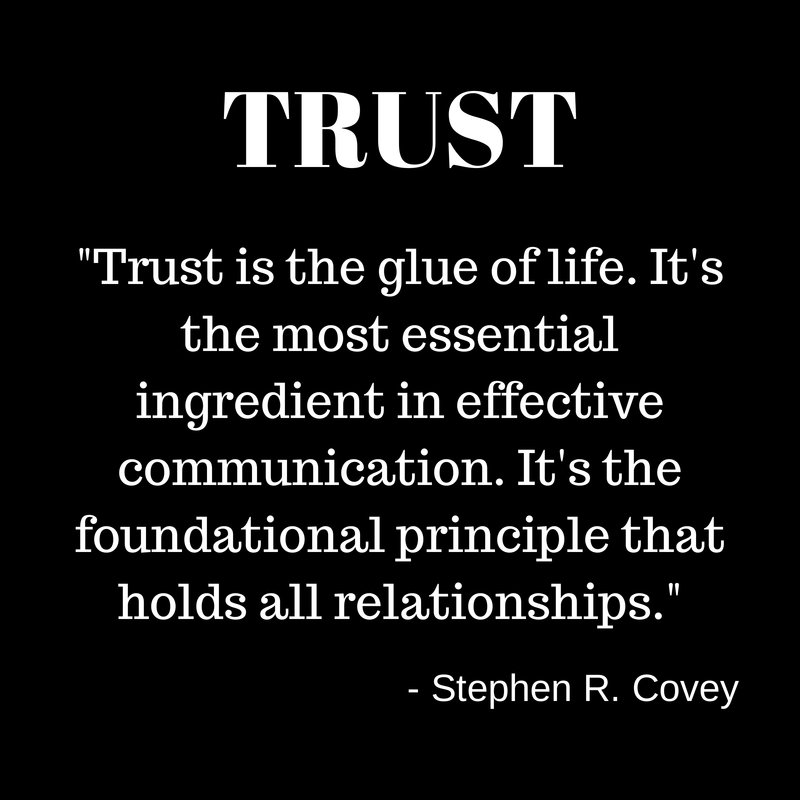 Image result for trust is the glue quote