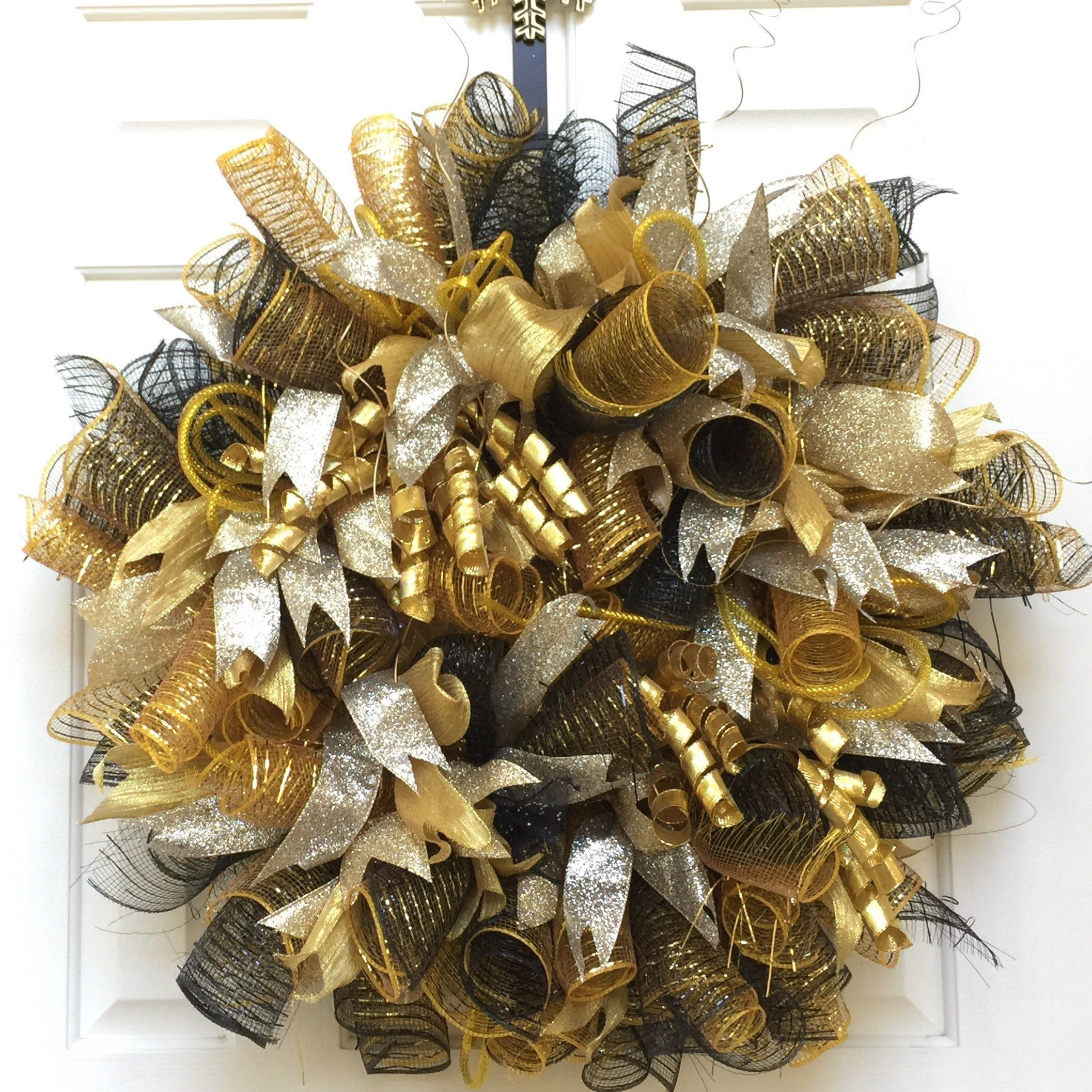 New Years Wreath for the Front Door, New Year's Eve Party