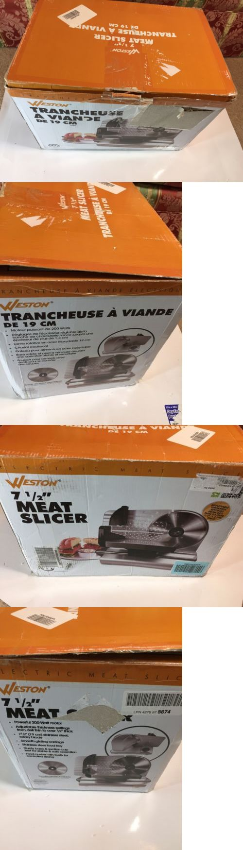 slicers and electric knives 20681 weston 7 5 meat slicer electric