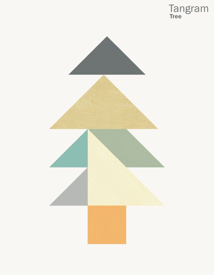 christmas tree tangram design interactive puzzle