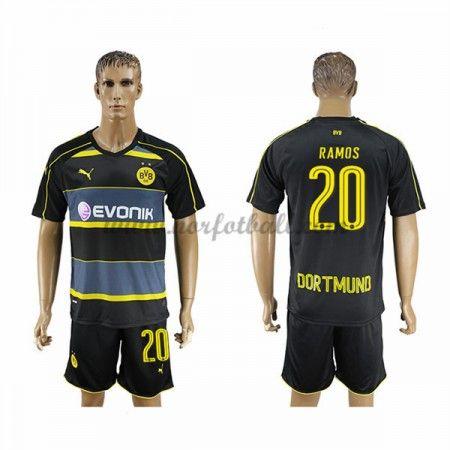 Billige Fotballdrakter BVB Borussia Dortmund 2016-17 Ramos 20 Borte Draktsett Kortermet