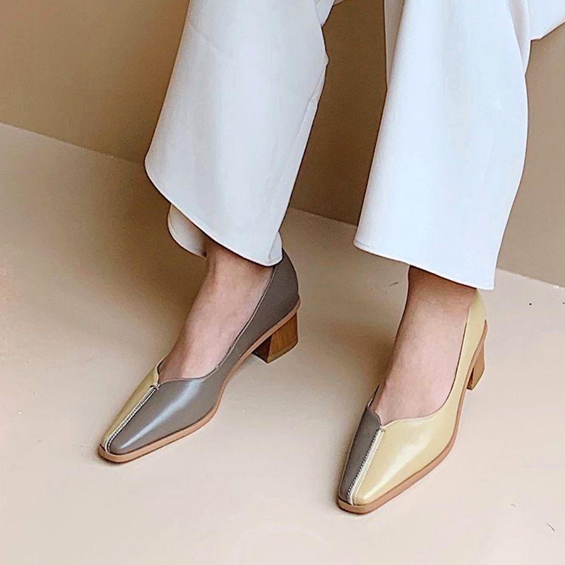 Chiko Yseult Square Toe Block Heels