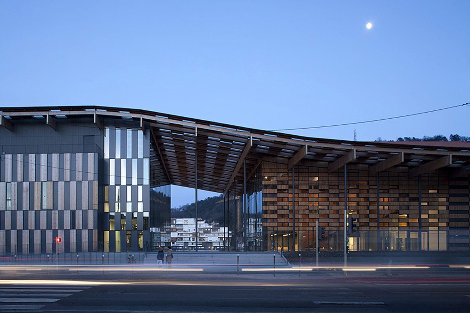 besan on art center and cit de la musique kengo kuma architecture and facades. Black Bedroom Furniture Sets. Home Design Ideas