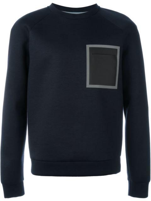 EMPORIO ARMANI Square Print Sweatshirt. #emporioarmani #cloth #sweatshirt