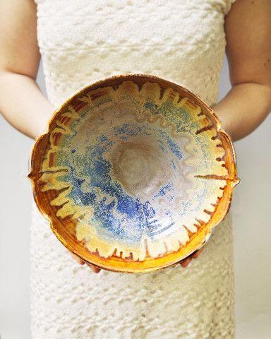 """Arabesque bowl large serving bowl 10 """" D"""