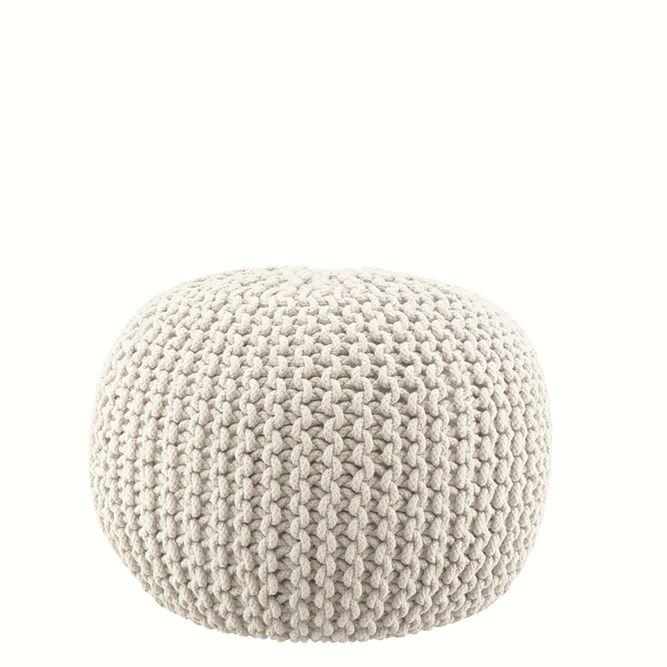 Lob Design Pouf.Knitted Pouff Offwhite Lob Design Lob Interior