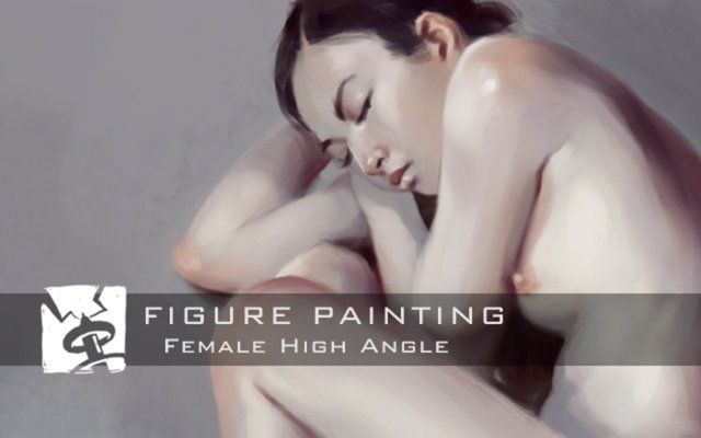 In this video Daarken takes you through his process of painting a female figure from a high angle using a black and white photo ref. The video is sped up by 8x.    Hyper Angle books - http://www.animebooks.com/hyperangle.html Software - Photoshop Painting time - ~91 minutes Resolution - 3000x4500 @ 300dpi Brushes - Hard Round, Chalk, Soft Round   Note - Some people are probably wondering about the math involved regarding the time and speed of the painting. The painting took around 91…