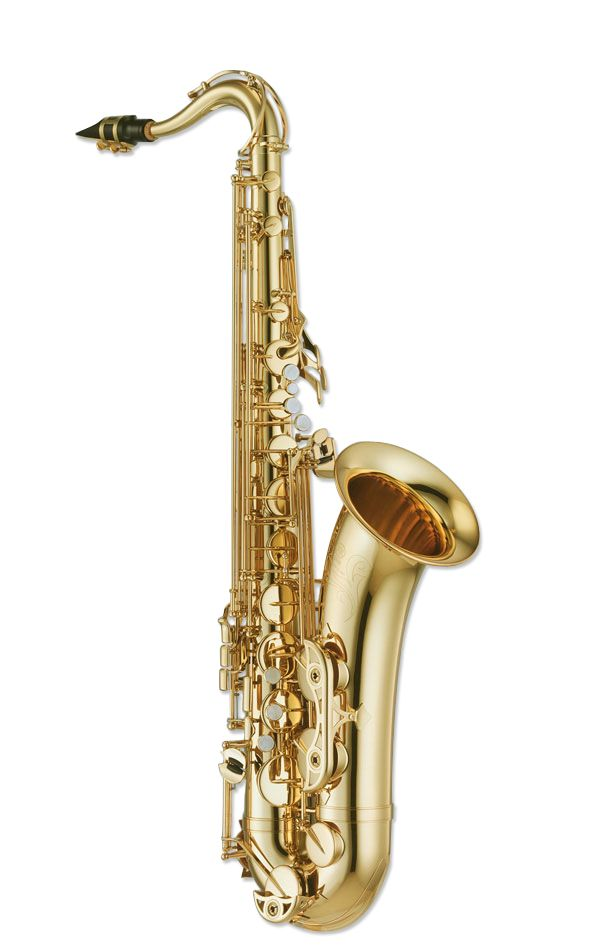 Saxophone (Woodwind family), also called sax, is usually made of brass, and has proved very popular in military band music, and is commonly used in jazz and classical music.