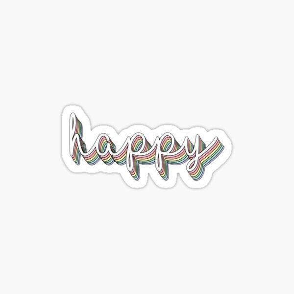 Smile Sticker By Renjean In 2021 Happy Stickers Stickers Elephant Stickers