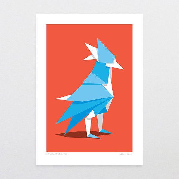 Origami Ornithology - Art Print by Glenn Jones Art - art to make you smile. Available in a range of sizes. Click image to buy online. www.glennjonesart.com