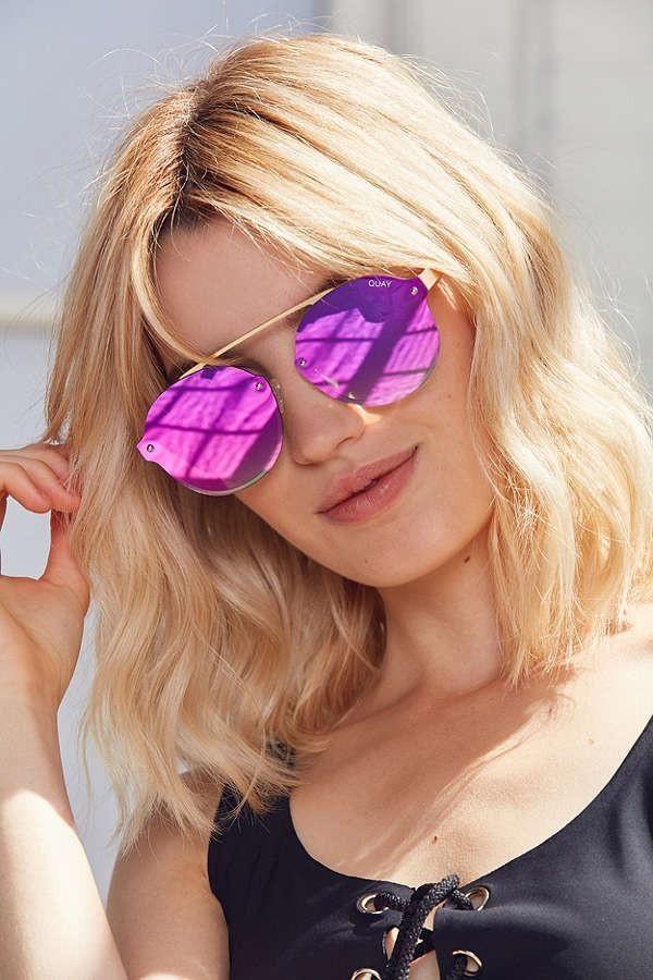 b44c7dc57892 Quay Camden Heights Hot Pink Reflective Sunglasses