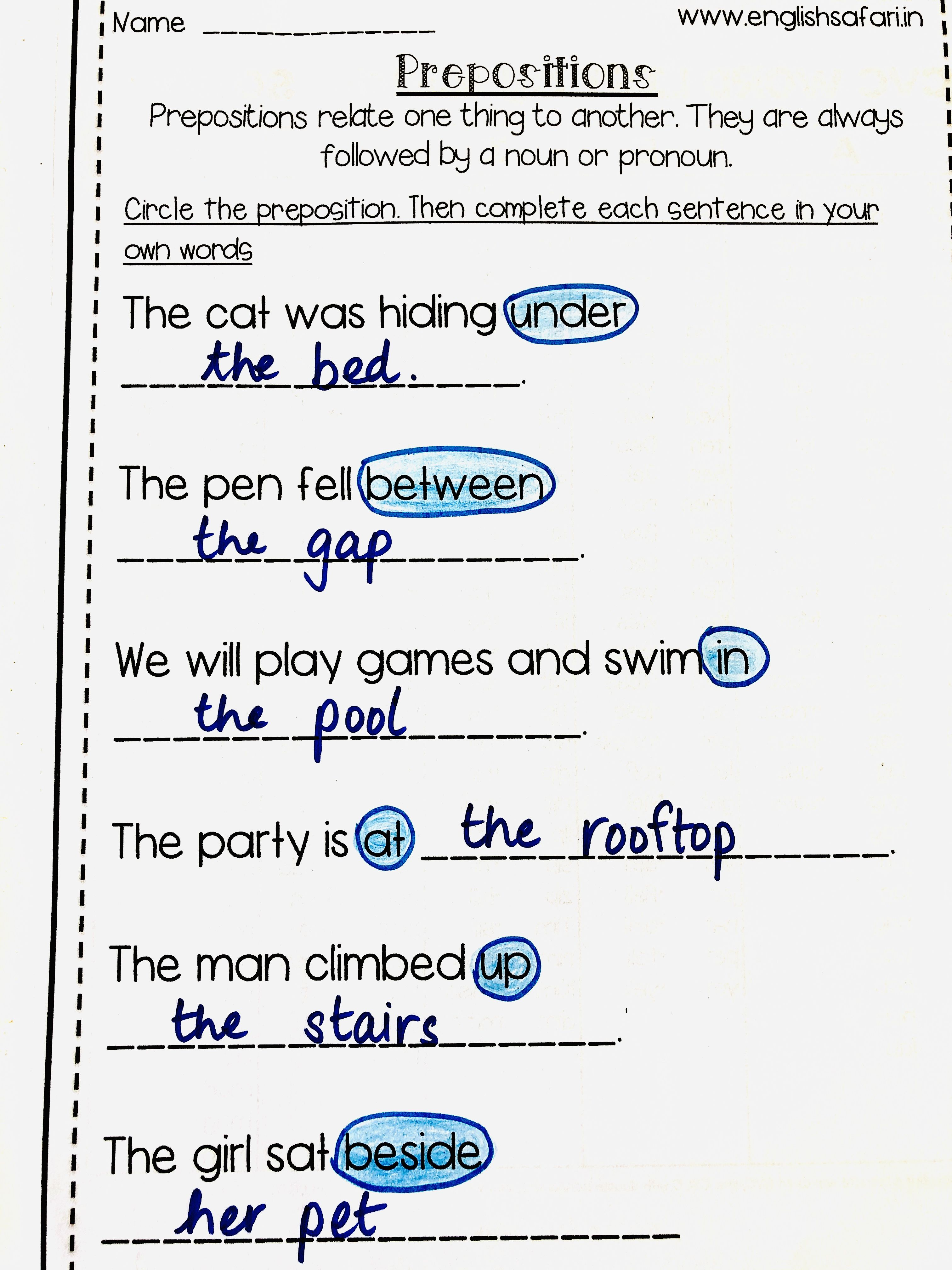 Pin on Prepositions