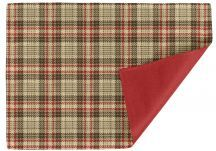 Luxe Glen tuscan Red and Sunbrella heritage Garnet Placemats