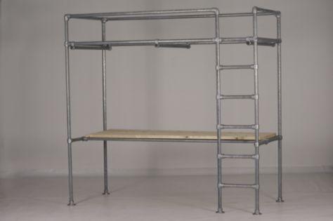 Giss design hoogslaper stapelbed hoogslaper met bureau housies
