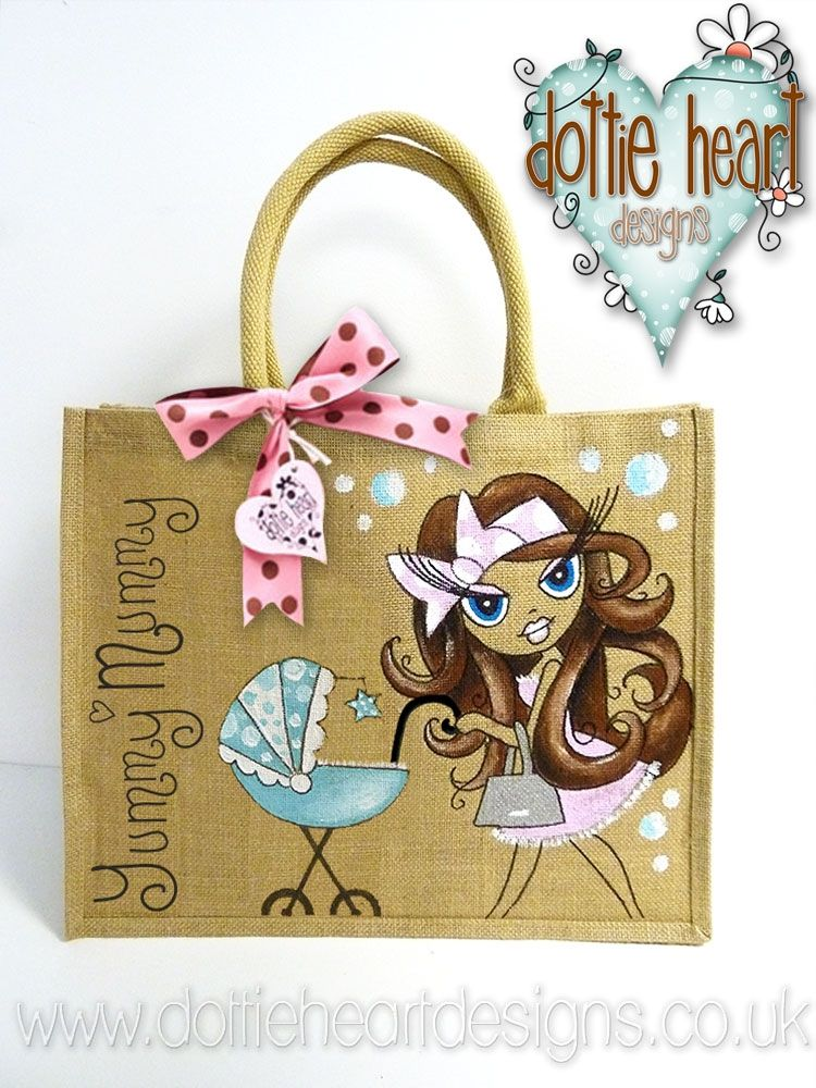 hand painted jute and canvas bags - Google Search | Bags | Pinterest