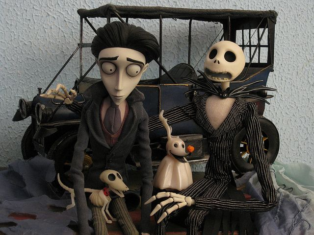 Awesome Victor Van Dort Scraps Jack Skellington And Zero By Mariko Via Flickr Tim Burton Tim Burton Films Tim Burton Art