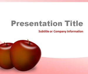 red apples powerpoint template is a free fruit powerpoint template, Presentation templates