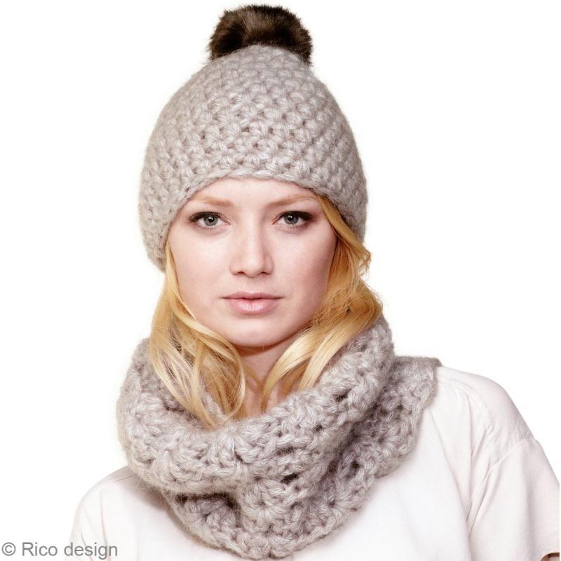 la moitié 64001 e2eb9 Bonnet au crochet et écharpe Snood : le tuto - Idées ...