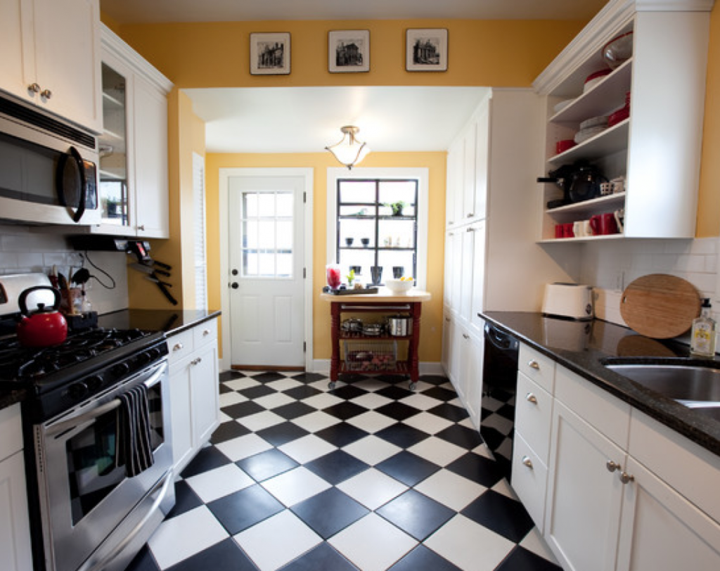 Beautiful Ceramic Tile Designs With Black And White  Kitchen Captivating Black And White Kitchen Designs Inspiration