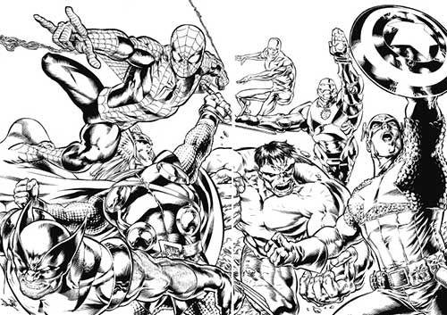 35 Desenhos de Os Vingadores para Imprimir/Colorir/Pintar | Desenhos ...