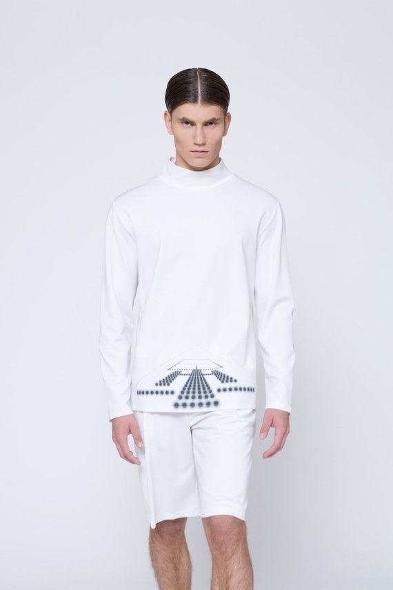 5623d45a701e Mens sweater Mens Turtleneck sweater Mens white sweater Mens clothing Long  Sleeve white sweater Mens