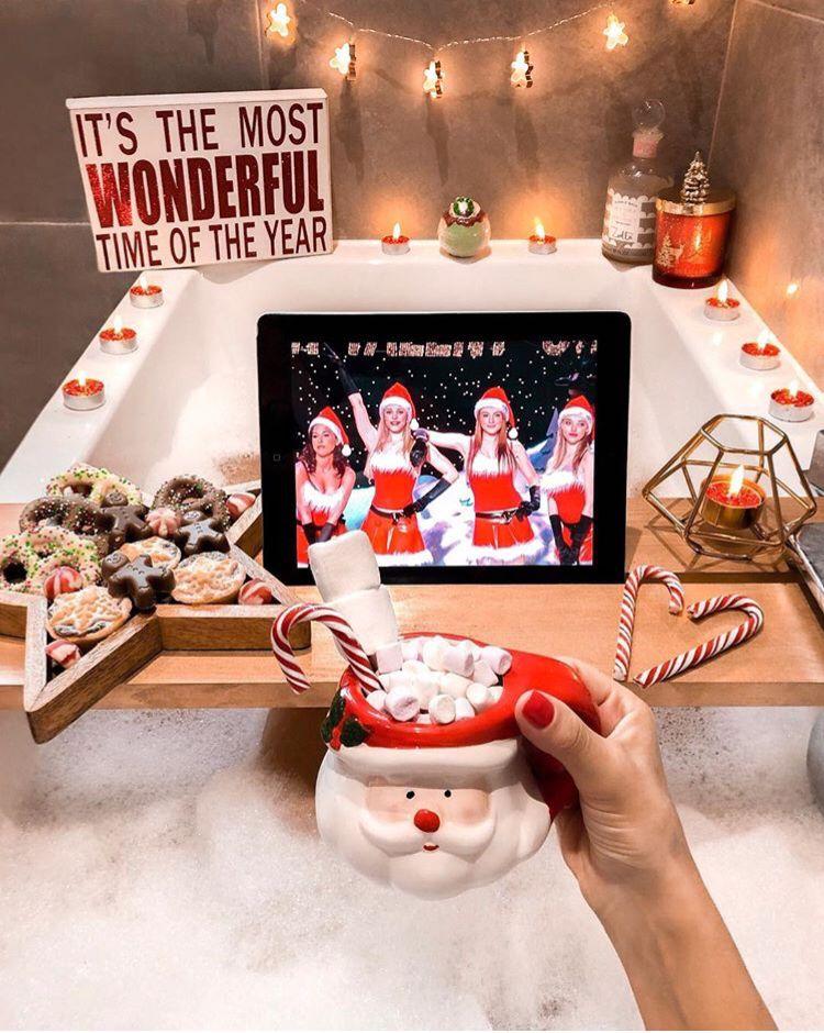 Christmas bathboard  #christmasaesthetic