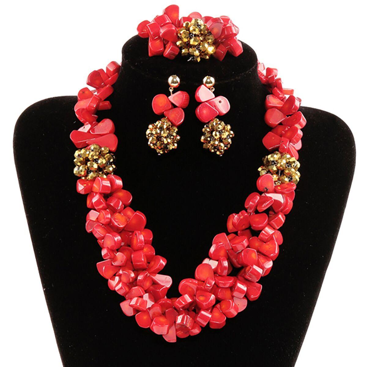 African Jewellery Set #prestigeapplause #jewelleryset #bestpoke #newfashion #beautiful #girlbestfriend http://www.prestigeapplause.com/