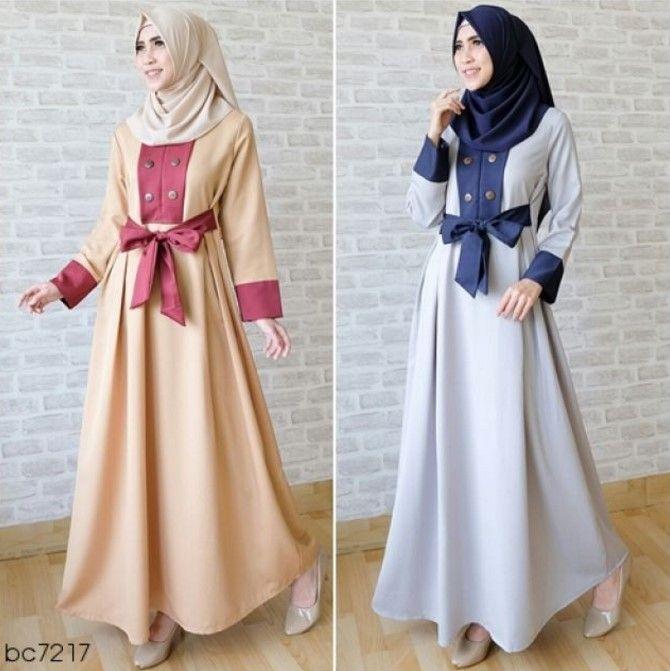 Baju Gamis Simple Model Baju Wanita Baju Muslim Model Pakaian