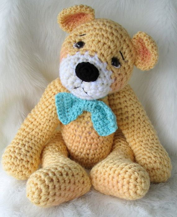 Crochet Pattern Favorite Teddy Bear by Teri Crews instant download PDF format Crochet Toy Pattern