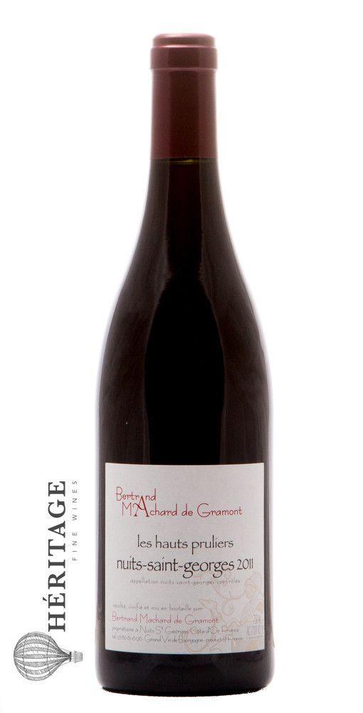 Region Bourgogne Appellation Nuits Saint Georges Vintage 2011 Varietal Pinot Noir Organic Estate Bertrand Machard De Gramont Created The Esta Saints