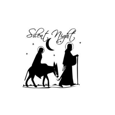 Christmas Decal Glass Block Decal Christmas Light Silent Night - Nativity vinyl decal for glass block light