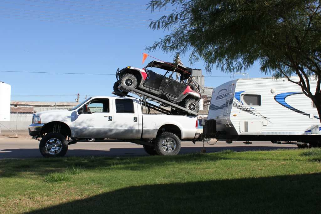 Sxs Rack On Top Of Pickup Can Am Commander Forum Can Am Atv Racks Pickup Trucks Bed