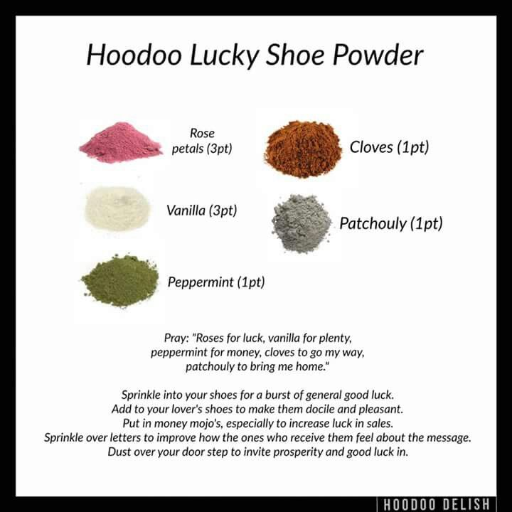 Lucky Shoe Powder | Pagan, Wicca & Witch | Voodoo hoodoo