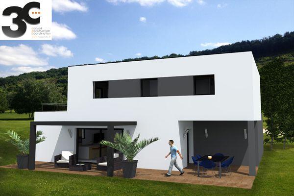 Très belle maison contemporaine à toit plat sur deux niveaux - plan maison contemporaine toit plat gratuit
