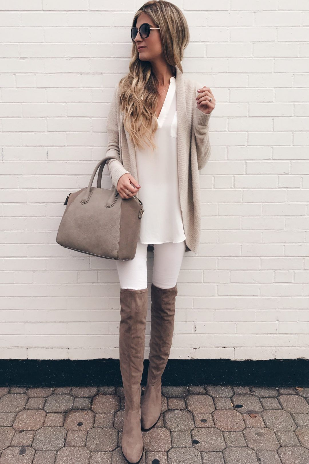 eb34f5fd82d nordstrom-anniversary-sale -cardigan-barefoot-dreams-circle-cardigan-with-white-skinny-jeans-and-over -the-knee-boots-on-pinterestingplans