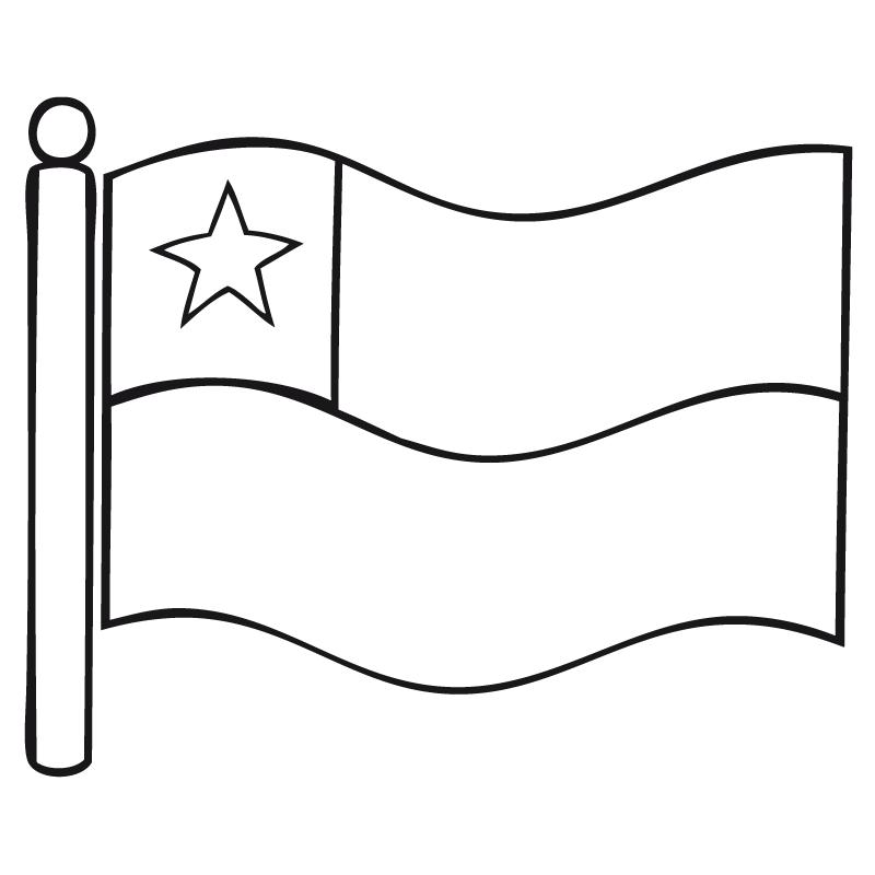 bandera de chile para colorear bandera chile 02 200x200 | Imagenes ...