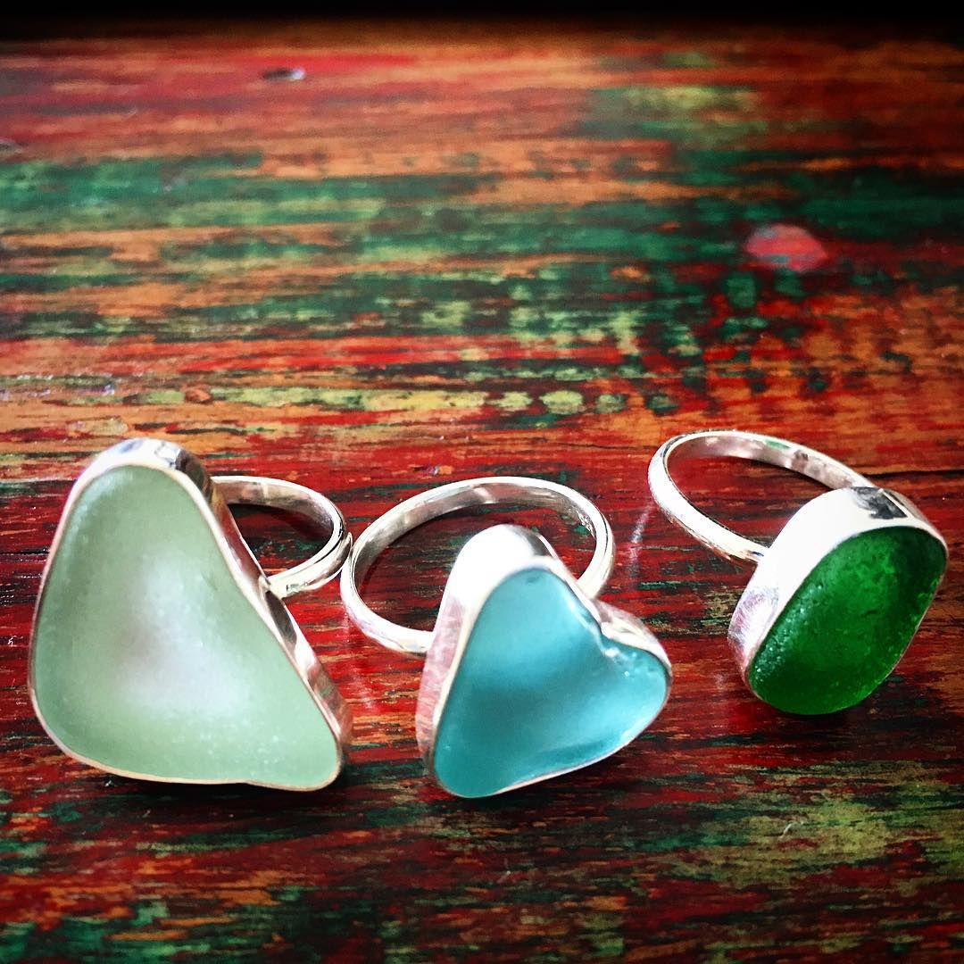 Ringtop handmade made of glass