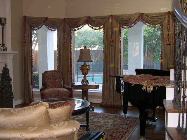Tuscan Style Window Treatments Italian Stringing Panels