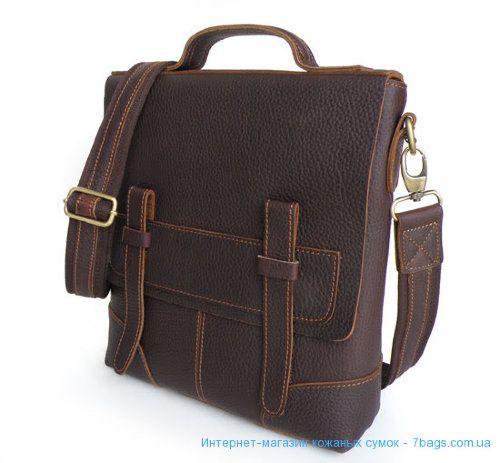 493ad1aa26df Кожаная мужская вертикальная сумка, крос-боди Мужской кожаный мессенджер  вертикальный. В комплекте: наплечный ремень, с регулируемой длинной, ...