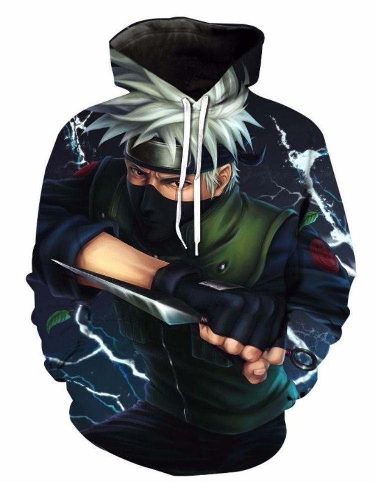Naruto kakashi hatake 3d street wear hoodie by www