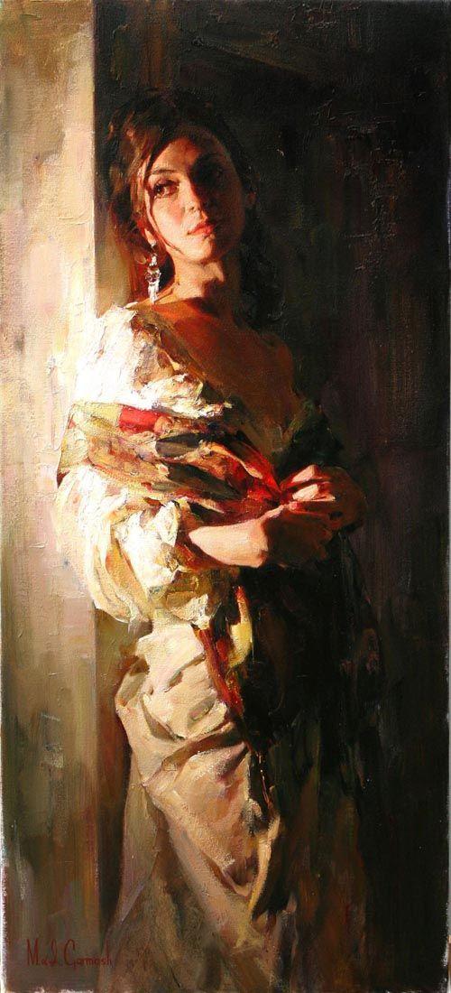 "Photo of ""Dreams"" – Michael & Inessa, oil on canvas {contemporary artist figurative beaut…"