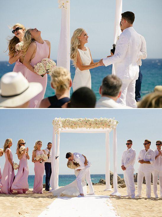 Brooke Brinson beach wedding i do's @weddingchicks