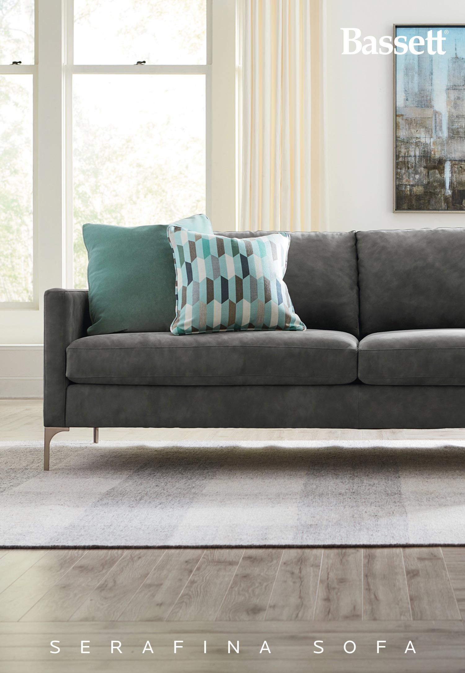 Sleek Thin Track Arm Modern Styled Sectional And Sofa Grouping Makes It Comfortable To Bring Glamour Simple Clean Lines Everyday Living