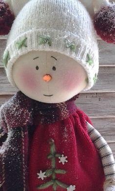 Primitive Snowman Pattern - Primitive Christmas Snowman Jake E-Pattern - Primitive Christmas Snow People Pattern - Primitive Snowman Pattern