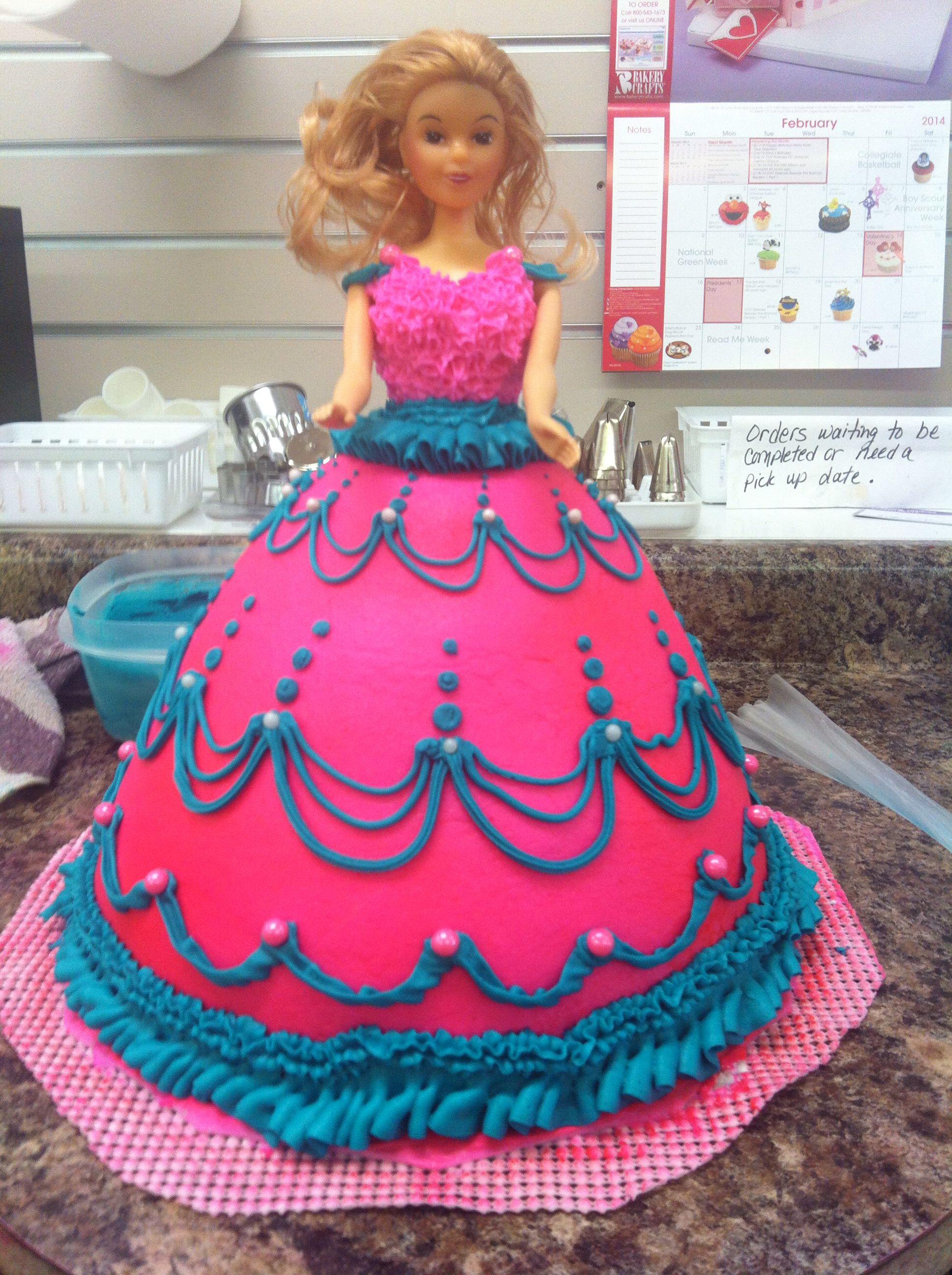 Barbie dress cake Cakes Ive done Pinterest Dress cake Cake
