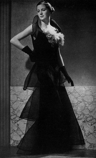 Les Modes (Paris) March 1936 Robe du soir par France Vramant