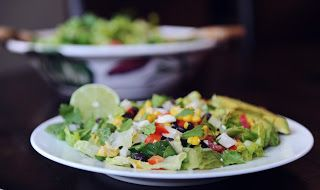 Mexican Chopped Salad with Honey-Lime Dressing | Jen's Recipes