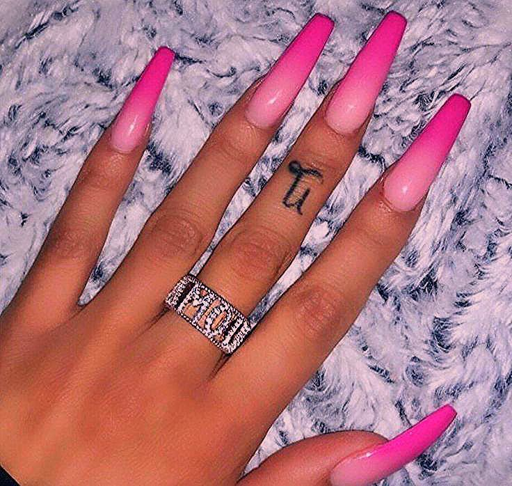 Photo of Coffin Nails Designs Kylie Jenner
