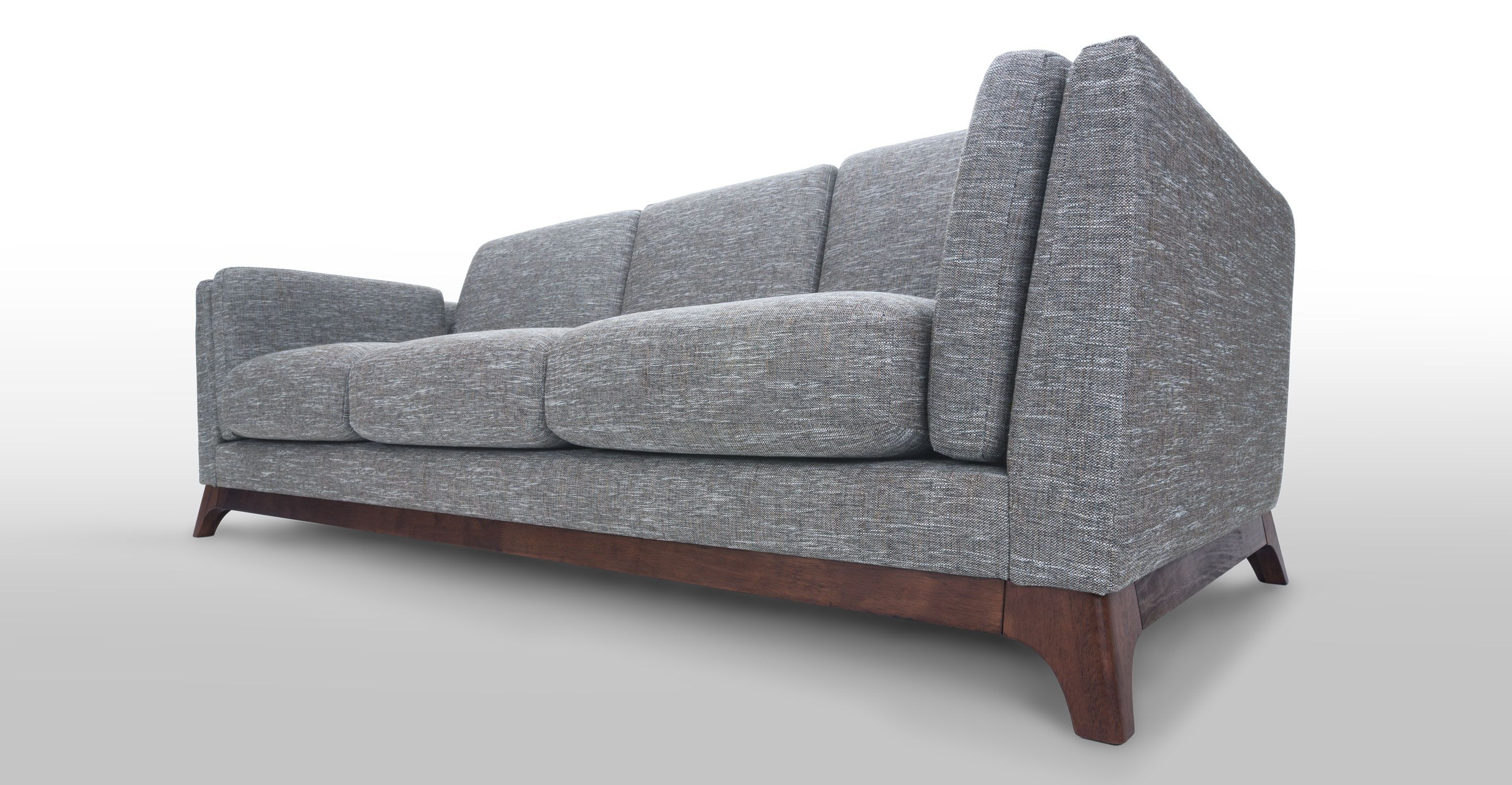 Gray Sofa 3 Seater With Solid Wood Legs Article Ceni Modern